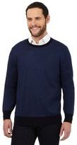 J By Jasper Conran Blue Pure Merino Wool Striped Jumper