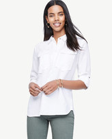 Ann Taylor Petite Safari Button Down Shirt