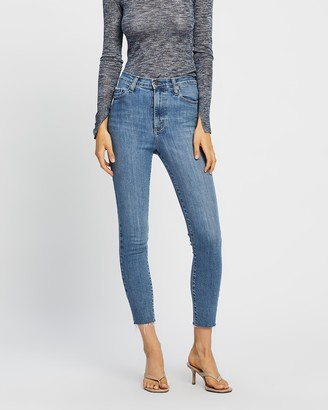Nobody Denim Women's Blue Crop - Siren Skinny Ankle Jeans - Size One Size, 26 at The Iconic