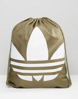 adidas Drawstring Backpack In Green AZ0282