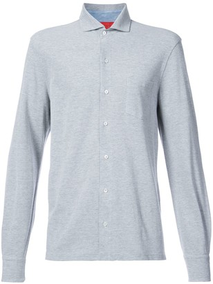 Isaia Front Button Shirt