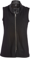 Live A Little Black Wool-Blend Funnel Neck Vest - Plus