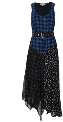MICHAEL Michael Kors Windowpane Midi Dress