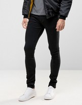 Religion Skinny Fit Hero Jeans in True Black