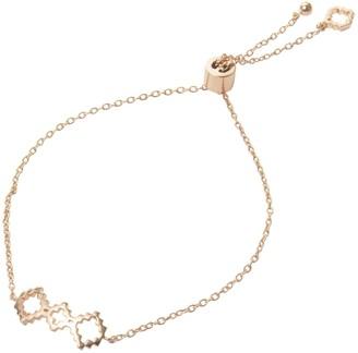 Jewel Tree London Baori Trinity Silhouette Bracelet Rose Gold