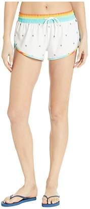Hurley Phantom Matsumoto Shave Ice Beachrider Swim Shorts (White) Women's Swimwear