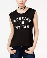 Shift Juniors' Working On My Tan Graphic Tank Top, Created for Macy's