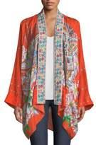 Johnny Was Summer Paisley Silk Kimono Cardigan, Petite