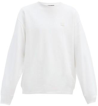 Acne Studios Forba Face Oversized Cotton-jersey Sweatshirt - White