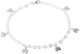 Sterling Silver Elephant Charm Anklet
