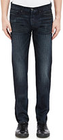 3x1 MEN'S DISTRESSED SLIM-FIT SELVEDGE JEANS-BLUE SIZE 36