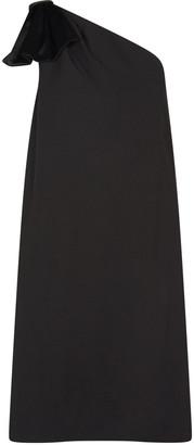 Aidan Mattox One Shoulder Trapeze Dress