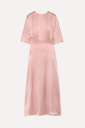 Mansur Gavriel Silk-satin Maxi Dress - Blush
