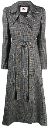 Ports 1961 Houndstooth Print Coat