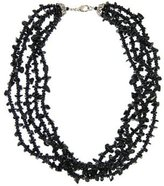Multi-Strand Onyx Chip Necklace