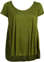 Paparazzi Olive Scoop-Neck Top - Plus