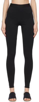 3.1 Phillip Lim Black Jersey Zip Leggings