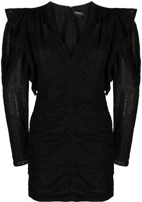 Isabel Marant ruffle-detail V-neck dress
