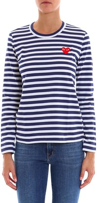 Comme des Garcons Striped Long Sleeved Top