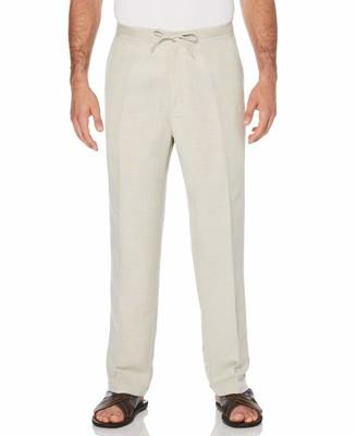 Cubavera Slim Fit Drawstring Linen Pant