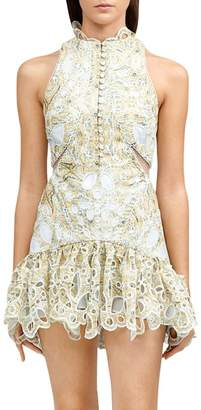 Acler Meredith Printed Cutout Detail Bodycon Dress