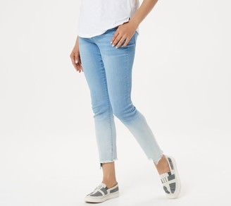 Women With Control Women with Control Petite My Wonder Denim Ombre Frayed Step Hem Jeans