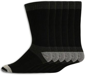Dickies Men's 6-pack Work Dri-Tech Max Cushion Crew Socks