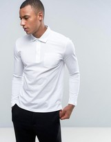 Reiss Long Sleeve Pique Polo