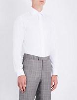 Duchamp Tailored-fit geometric pattern shirt