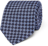 Dunhill 8cm Mulberry Silk-jacquard Tie - Blue
