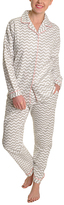 Angelina Giftable White & Gray Chevron Pajama Set