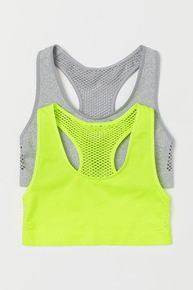H&M 2-pack Seamless Tops - Yellow