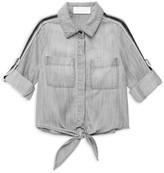 Bella Dahl Little Girl's & Girl's Tie-Front Pocket Shirt