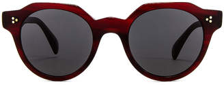 Oliver Peoples Irven Sunglasses in Bordeaux Bark & Grey | FWRD