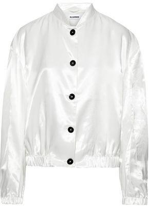 Jil Sander Printed Satin Bomber Jacket