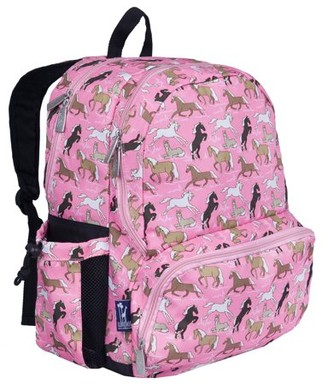 Wildkin Horses in Pink 17 Inch Backpack
