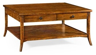 Jonathan Charles Fine Furniture Coffee Table with Storage Color: Walnut Country Farmhouse