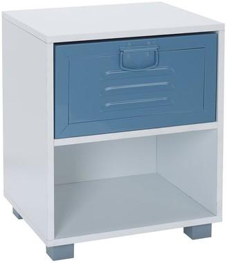 Lloyd Pascal Edison Metal Locker1 Drawer Bedside Table-Blue