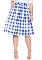 ELOQUII Plus Size Studio Pleated Midi Skirt