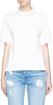 Muveil Faux pearl necklace T-shirt