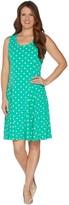 Susan Graver Printed Liquid Knit Sleeveless Dress
