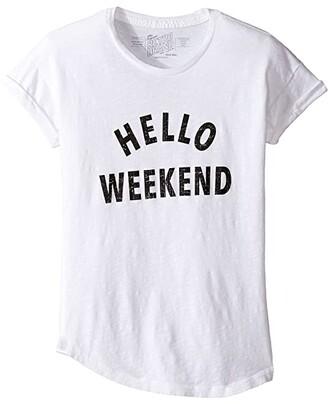 Original Retro Brand The Kids Hello Weekend Crew Neck Slub Tee (Big Kids)