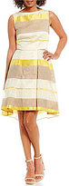 Eva Franco Cassie Stripe Hi-Low Dress
