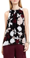 Vince Camuto 'Chapel Rose' Print Sleeveless Blouse