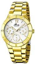 Lotus Women's Quartz Watch with Silver Dial Analogue Display and Stainless Steel Gold Plated Bracelet 15914/1