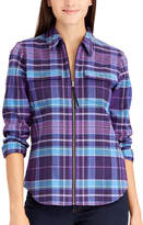 Chaps Women's Plaid Full-Zip Shirt