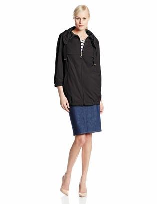 T Tahari Women's Azalea Memory Fabric Zip Front Anorak Jacket