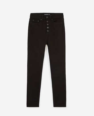 The Kooples Slim-fit black jeans with buttons