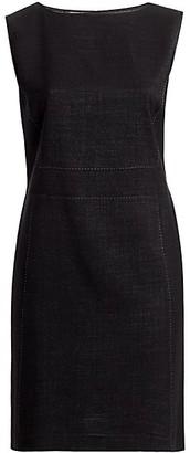 Lafayette 148 New York, Plus Size Brett Dual Weave Suiting Dress