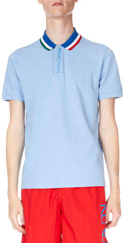 d8f7a70023 Men's Sky Placket Embroidery Polo Shirt